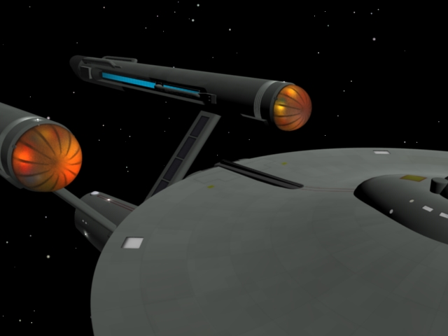 The infamous Star Trek nacelle dome effect - Works in